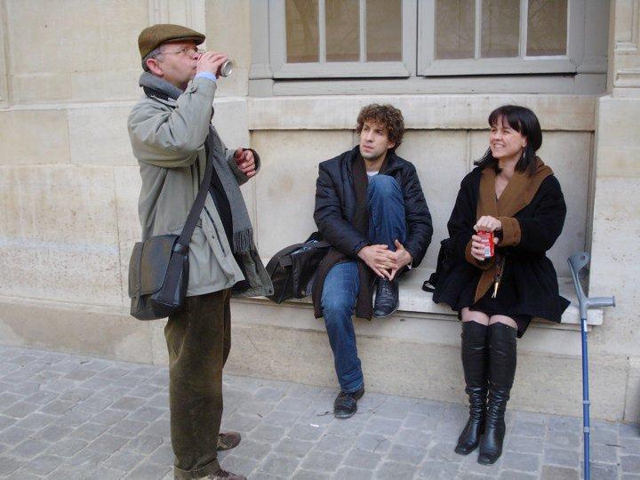 Tlön, Rodolphe et moi- pause après un cours de Daniel Ferrer sur Joyce