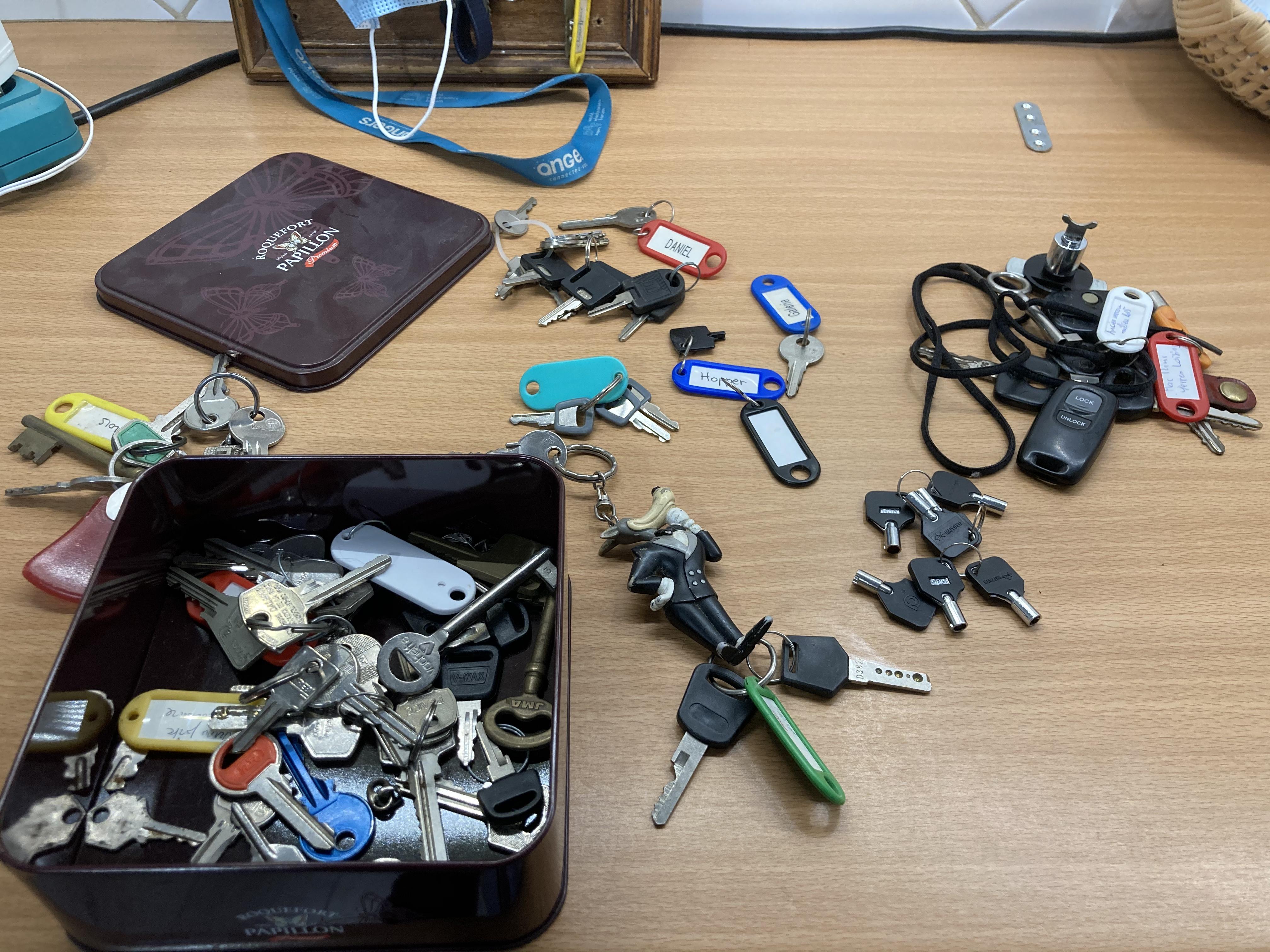 clés variées