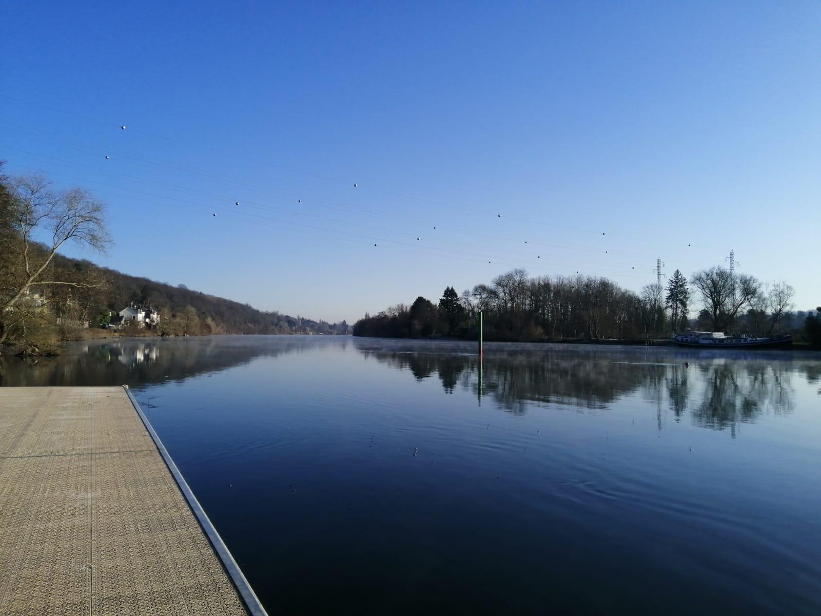 la Seine vue du ponton de l'ANFA